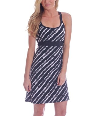 Black Tie-Dye Tahiti Racerback Dress