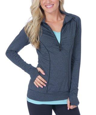 Black Stripe Athena Pullover