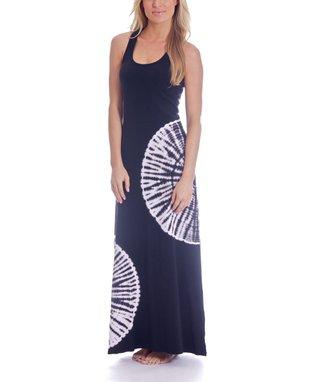 Black Ripples Rachel Maxi Dress