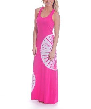 Water Lily Ripples Rachel Maxi Dress