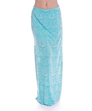 Green Henna Willow Maxi Skirt