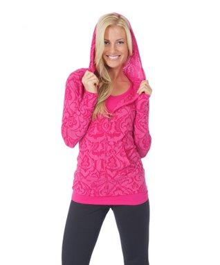 Pink Henna Taylor Zip-Up Hoodie