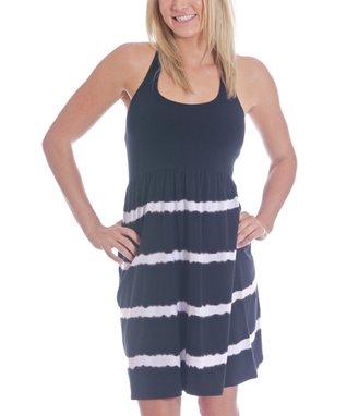 Black Stripe Nina Racerback Dress
