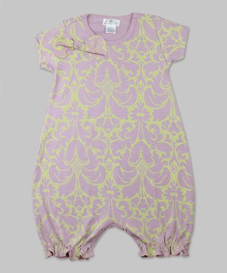 Mauve & Green Damask Bodysuit - Infant