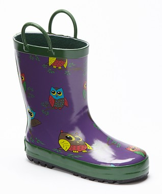 Foxfire Purple Owls Rain Boot