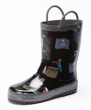 Foxfire Black Pirates Rain Boot