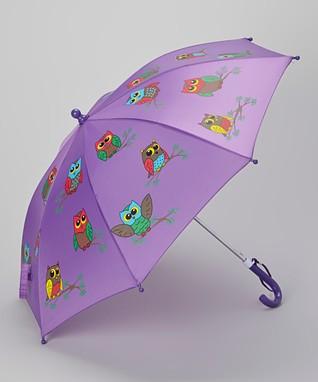 Foxfire Purple Owls Umbrella