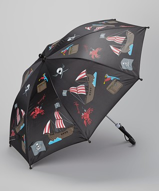 Foxfire Black & Blue Pirates Umbrella
