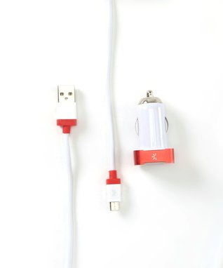 Red & Blue Micro USB Car Charger