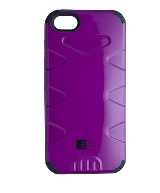 Purple & Black Durable Case for iPhone 5