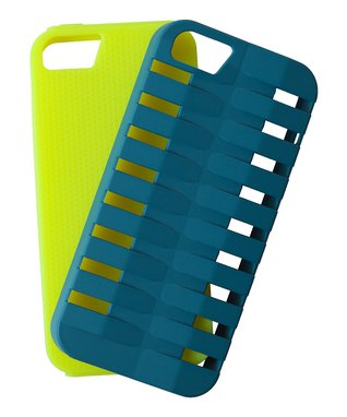 Blue & Lime Xtreme Two-Piece Case for iPhone 5