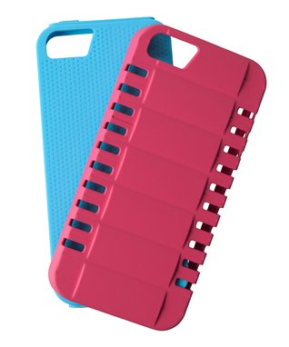 Pink & Blue Off Road Two-Piece Case for iPhone 5