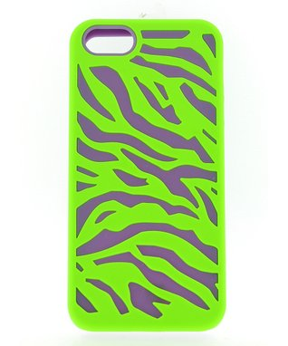 Green & Purple Zebra Case for iPhone 5