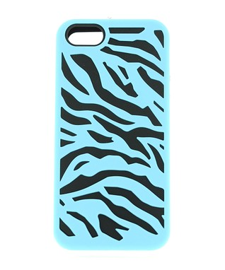 Blue & Black Zebra Case for iPhone 5