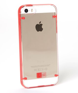 Clear & Red Case for iPhone 5
