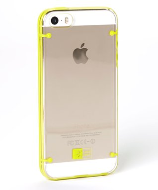 Clear & Lime Case for iPhone 5