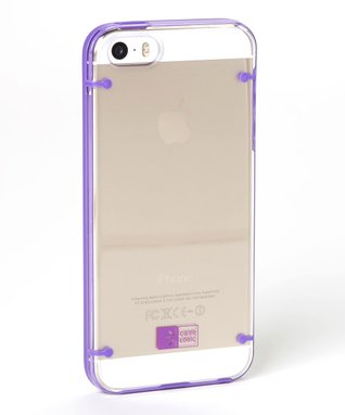 Clear & Purple Case for iPhone 5