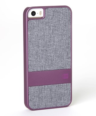 Purple & Gray Faux Denim Case for iPhone 5
