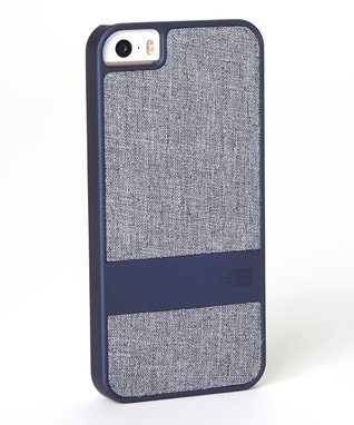 Blue & Gray Faux Denim Case for iPhone 5
