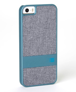 Teal & Gray Faux Denim Case for iPhone 5