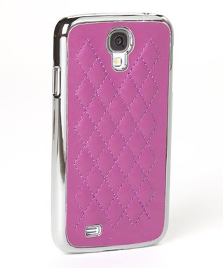Purple Quilted Case for Galaxy S4