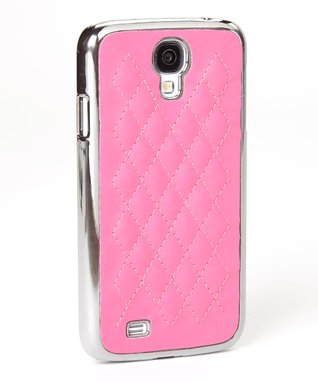 Pink Quilted Case for Galaxy S4