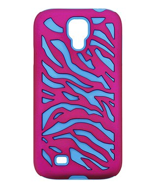 Silver Metallic Zebra Case for Galaxy S4
