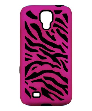 Pink & Black Zebra Case for Galaxy S4