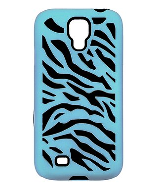 Pink & Blue Zebra Case for Galaxy S4