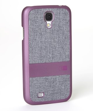 Purple & Gray Faux Denim Case for Galaxy S4