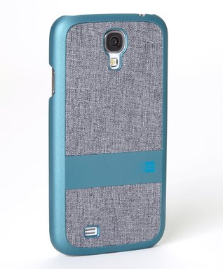 Teal & Gray Faux Denim Case for Galaxy S4