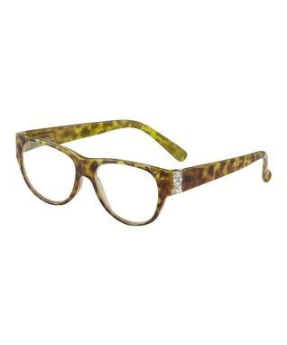 Turquoise & Silvertone Naomi Eyeglass Chain Necklace