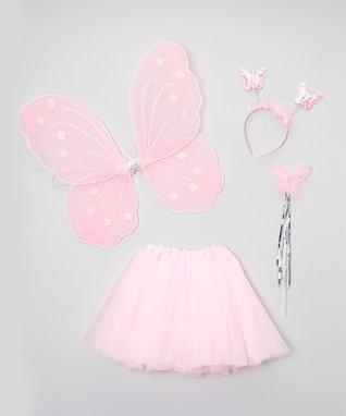 Pink Tutu & Wings Set - Toddler & Girls