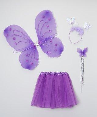 Purple Tutu & Wings Set - Toddler & Girls