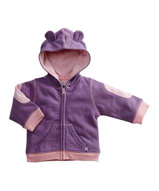 babysoy Purple Bear Hoodie - Infant
