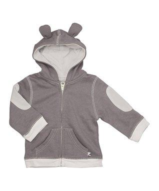 babysoy Gray Bear Hoodie - Infant