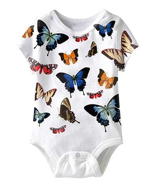 White Butterfly Sublimation Bodysuit - Infant