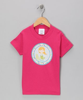 Pink Blonde Mermaid Personalized Tee - Infant, Toddler & Girls