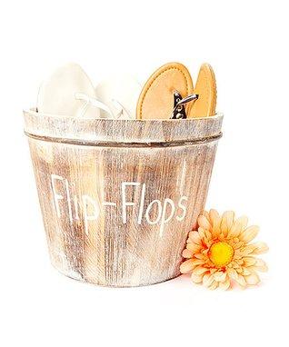Rustic Chic 'Flip-Flops' Bucket