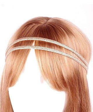 Gold Metallic Double-Line Headband