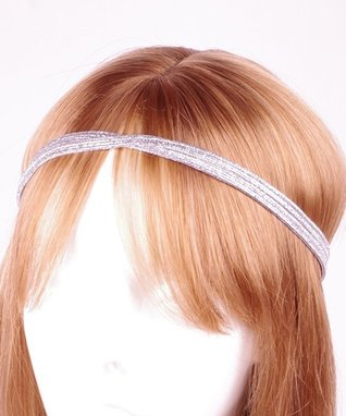 Silver Metallic Double-Line Headband