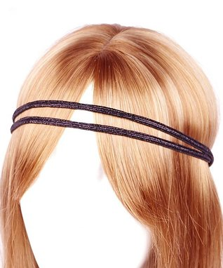 Black Metallic Double-Line Headband