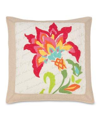 Bold Flower Throw Pillow