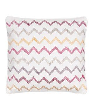 Soleil Chevron Embroidery Throw Pillow