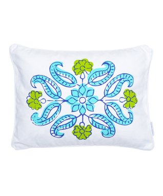 Teal 'Love' Rope Pillow