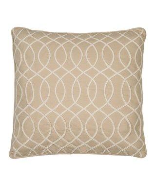 Gray Trellis Throw Pillow
