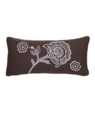 Black Flower Tanzie Pillow