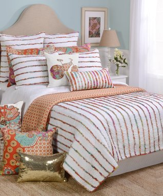 Ruched Rainbow Quilt Set