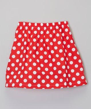 Red & White Polka Dot Skirt - Toddler & Girls