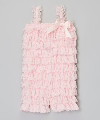 Hot Pink Ruffle Bow Romper - Toddler
